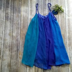 """Free People Flowy Blue """"Mermaid"""" Dress"""